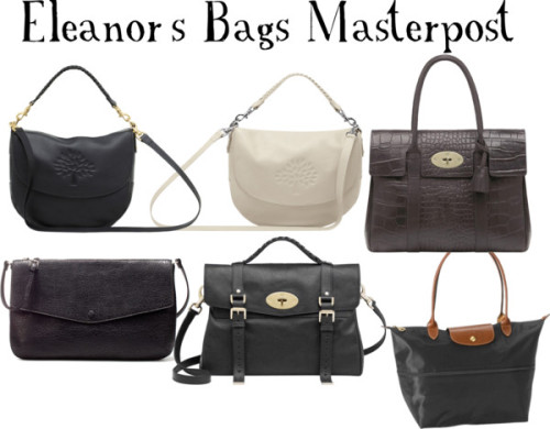 1dgirlfriendstylized:  ALL of Eleanor's Bags by lilylei   ~ Lei x