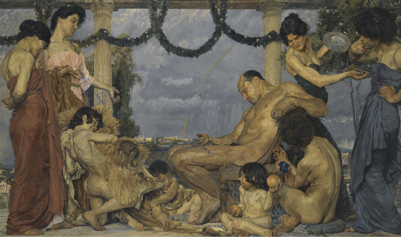 Hercules at Omphale by Otto Greiner 1905
