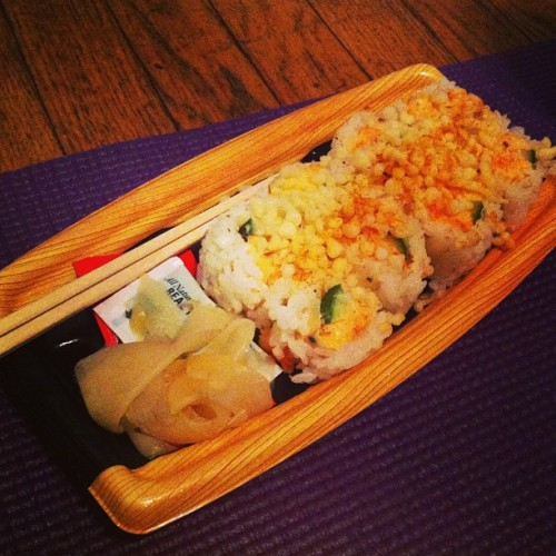 #Sushi && #yoga. 😌💕 #bliss #yum #delicious #food