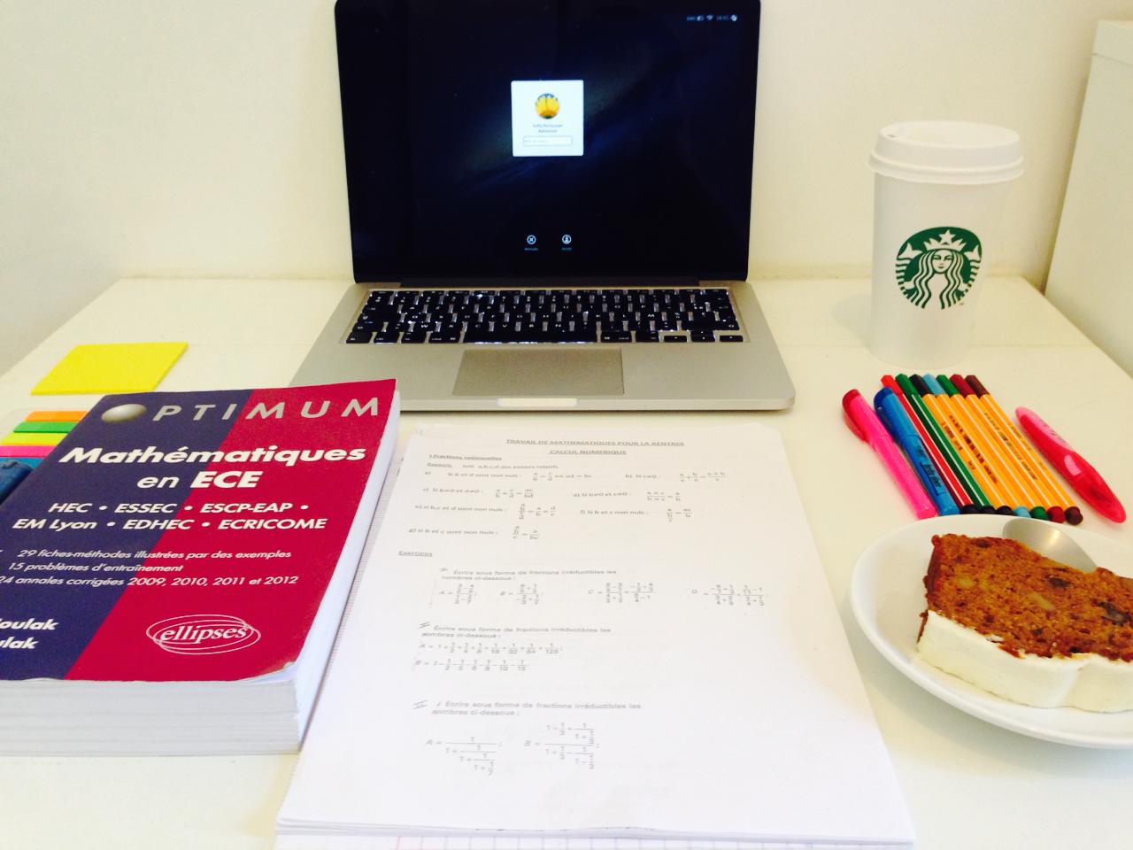sleekstarlight:  J-1 back to school. Maths and breakfast 💪