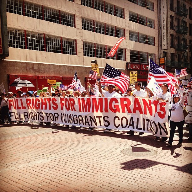 Mayday is happening right now. #dtla #immigrationrights #losangeles #latinorights #protest
