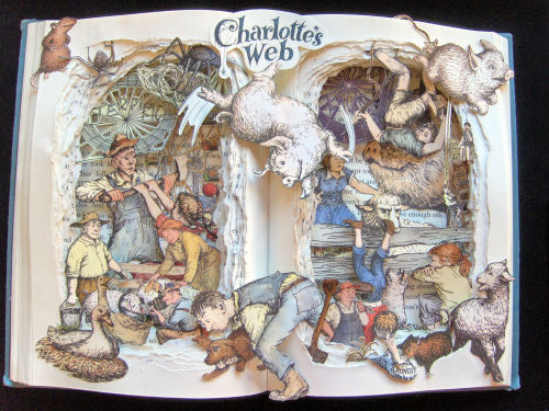Charlotte's Web Book Sculpture. Visit my Etsy Shop at: http://www.etsy.com/shop/artfuliving?ref=si_shop
