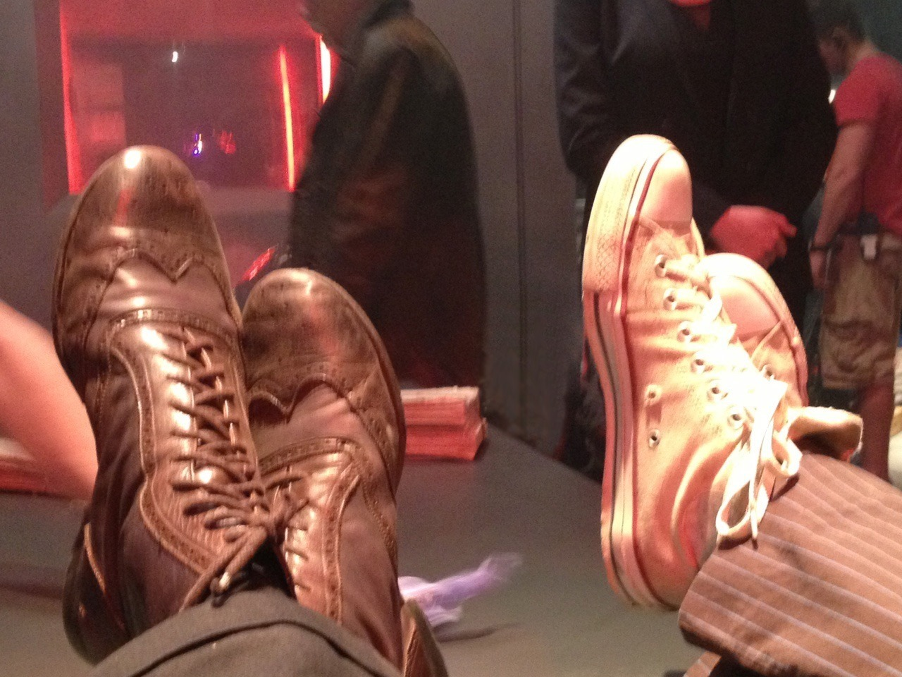 doctorwho:  Meanwhile, on set of the Doctor Who 50th anniversary special….  If this were of a better quality it would already be my desktop, but it's still nice enough to look at here on Tumblr <3