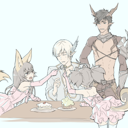 Elin princesses Arin and Rida, Niel and Xerxes °˖✧◝(⁰▿⁰)◜✧˖°