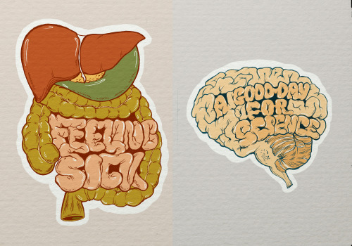 Typo and organs Illustration by Alina Bohoru (^Facebook) ————————get your work featured by submitting it to designersof.com