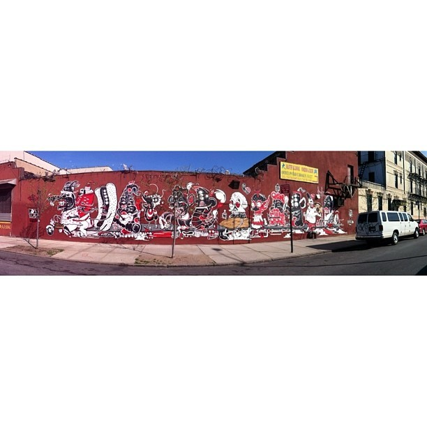 The Yok & Sheryo: Road Trip #streetart #bushwick #brooklyn #nyc #theyok #sheryo #bushwickcollective #thebushwickcollective #roadtrip