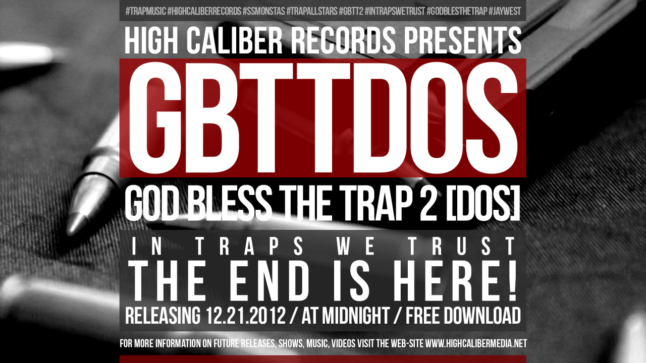 "High Caliber Records PresentsBadNews & Young Chapo in""God Bless The Trap 2 [Dos]""Hosted by Ernie G of Proper DosRelease Date: December 21st, 2012 at MidnightDownload Location: http://highcalibermedia.net/Other Download Sources: SoundCloud, DatPiff, HulkShare, CalifaRap and many many other domains."
