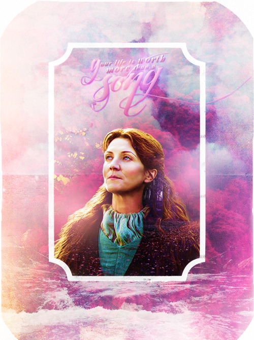 acidflashbacks:  FAVORITE ASOIAF CHARACTERS » Catelyn Stark   She would show these northerners how strong a Tully of Riverrun could be.