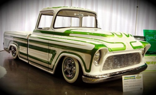 Custom 1957 Chevy pickup.