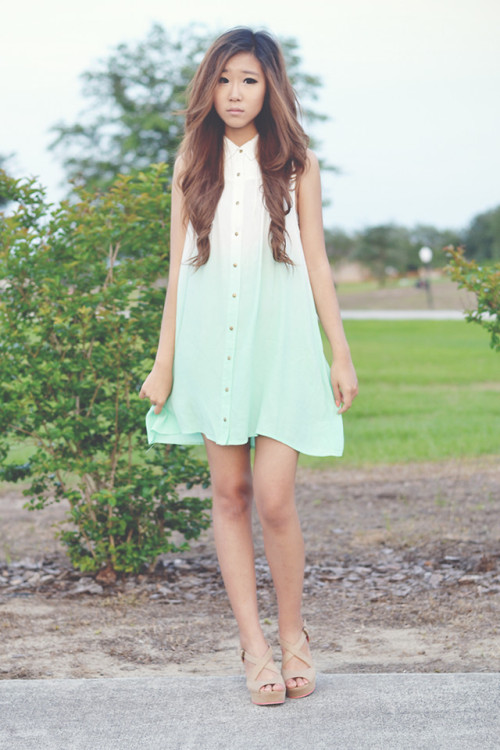 lookbookdotnu:  Mintimal (by Myu Cha)
