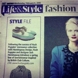 The Ronnie Shoe in Today's @metrouk with thanks to @bel_jacobs Summer is coming early! @whoisgabriella