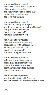 outreasoned:  self harm help