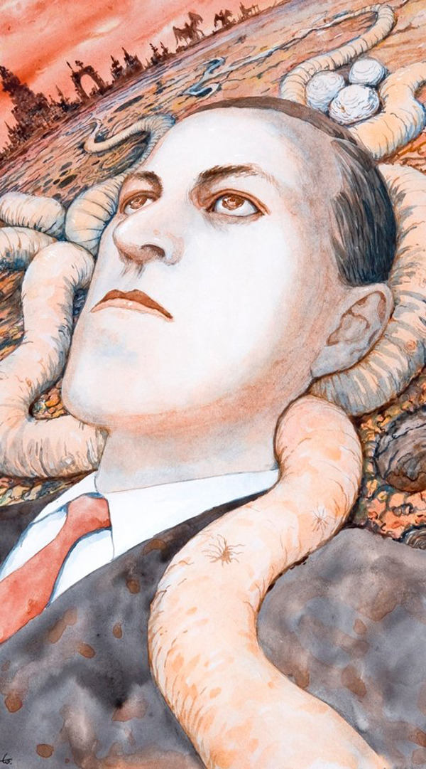 kaileybear:  portrait of HP Lovecraft done by Junji Ito.