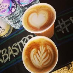 Alex our lovely coffee guy is up and running for business. @emfcamp @drinkbastard #drinkbastard #emfcamp #coffee #amazeballs