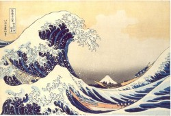 Under the Wave off Kanagawa (Kanagawa oki nami ura), also known as the Great Wave, from the series Thirty-six Views of Mount Fuji (Fugaku sanjūrokkei) Katsushika Hokusai (Japanese 1760 - 1849) Date: 1830-32