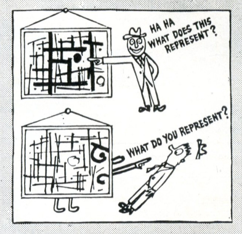 Ad Reinhardt on abstraction