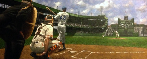 My latest painting of Jackie Robinson.