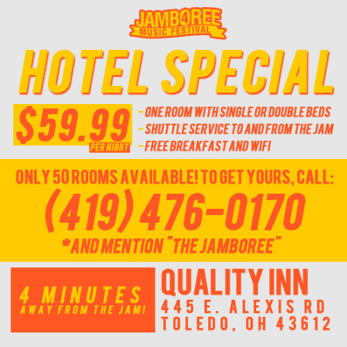 Jamboree Hotel Special! $59.99 per night. Includes free shuttle service and breakfast!View Post