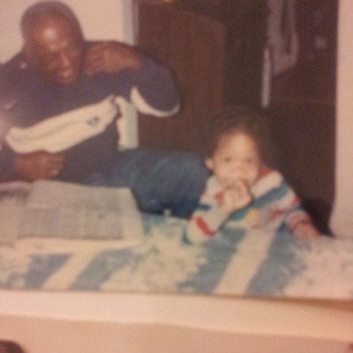 Gramps R.I.P and me. Moms kept my hair long. Always got mistaking for a girl. #tbt