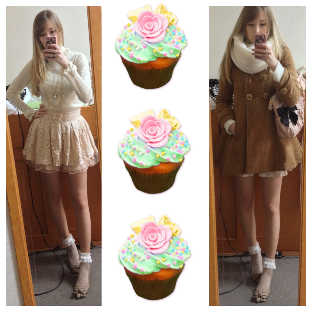 oppajjangg:  Today's outfit~ The skirt is from the fukubukuro I got from Liz Lisa, of course~ I really love it!