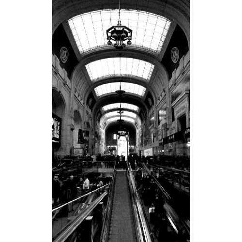 Milan Central Station #blackandwhite #architecture #Italy