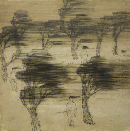 likeafieldmouse:  Wang Tzu-Ting - Big Wind (2010) - Acrylic and pencil on canvas