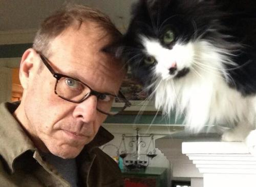 sunfell:  laughterkey:  altoncbrown:  I admit it, I have a cat.   Be still my beating heart, Alton Brown is on Tumblr.  Cat: I admit it. I live with this guy.