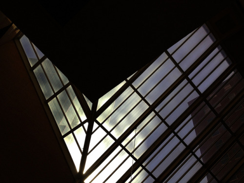 The skylights at the Hilton Fort Worth. #AIsmc on Flickr.This morning was super stunning. Just look at that sky. That light. MHM.