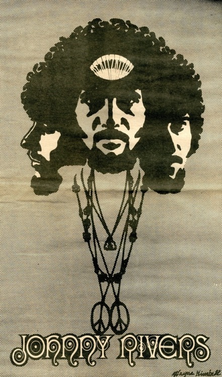 Johnny Rivers, 'Realization' - 1968 poster
