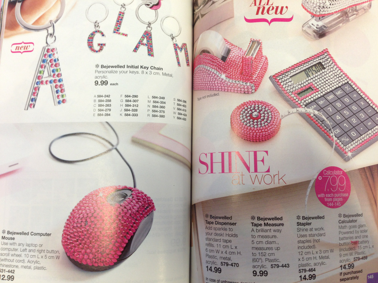 There's not enough bedazzle. (Avon booklet)