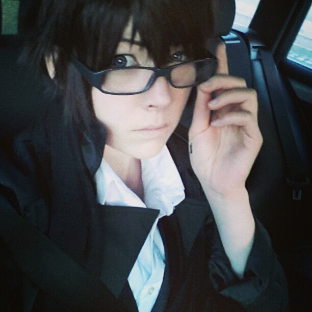 Recording Sekaiichi CMV with @figgarow as Onodera!  #cosplay #cmv #makeup #takano #masamune #onodera #ritsu