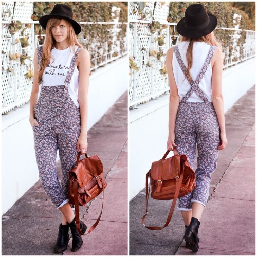lookbookdotnu:  Overalls adventure.  (by Steffy Kuncman)