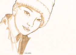 fanjumma:    YOO YOUNGJAE; drawn with marker and pen.:)     My first fan art. I used a tombo marker. :) I'm Youngjae's… anti fan. -_-' Do not take out!:) (cr: fanjumma)