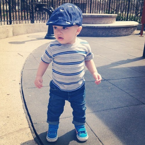 Hat, Old Navy T-Shirt, Garanimals Jeans, Gap Sneakers, Vans
