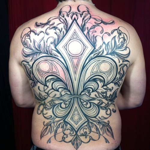 jessversus:  My first finished backpiece! Thanks again, Maxwell, for enduring months of torture. and now I'm gonna go die in a sickbed of sickness. #tattoo #tattoos #nofilter