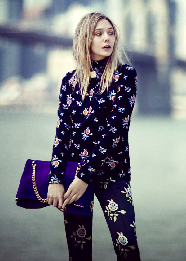 olsens-anonymous:  ELIZABETH: PRETTY IN PRINTS | VOGUE MAGAZINE
