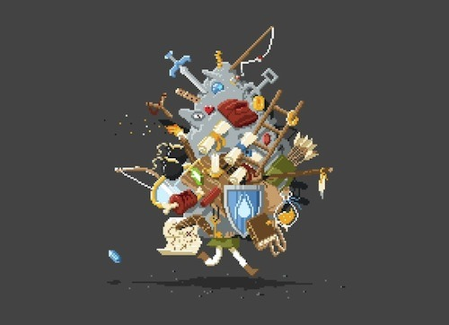threadless:  Listen! It's Dangerous to Go Alone! Take This by Stacy Eyles is new this week at Threadless! Gather up your rupees and check it out!