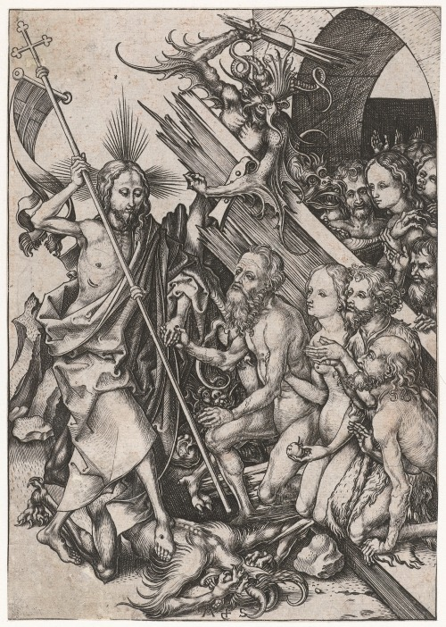 denisforkas:  Martin Schongauer - The Harrowing of Hell. N.d., 1470-1490