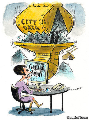 Cities are finding useful ways of handling a torrent of data | The Economist Many cities around the country are accumulating data faster than they know what to do with. One approach is to give them to the public. For example, San Francisco, New York, Philadelphia, Boston and Chicago are or soon will be sharing the grades that health inspectors give to restaurants with an online restaurant directory.