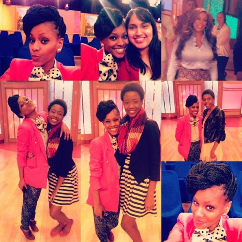 a day at the wendy show with my girls @rasmenamber @azanya_ and Diana. We had so much fun. I ❤ those girls!!