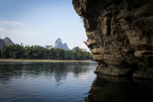 uhhhhhhh7:  Chris Miller deep water soloing in Yangshou, Guanxi, China