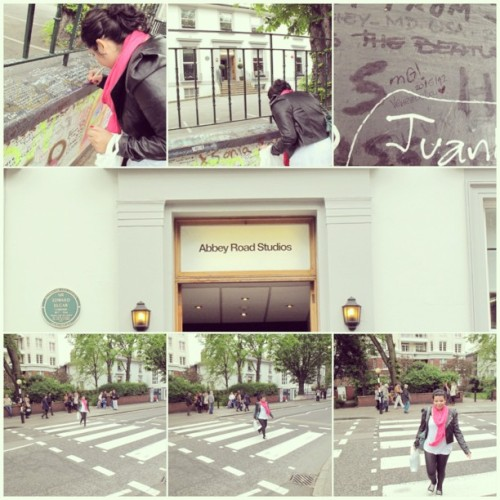 Remembering the day we met.  (en Abbey Road Studios)