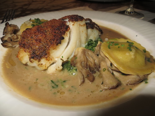 The Truffle Crusted Casco Bay Cod at AquaGrill…