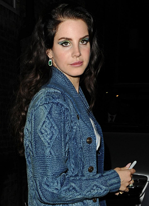 Lana Del Rey today in London.
