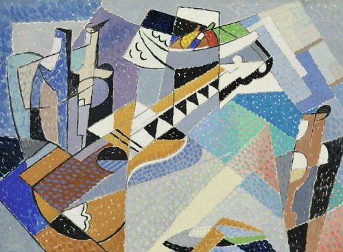 Gino Severini Still Life with Guitar 1955