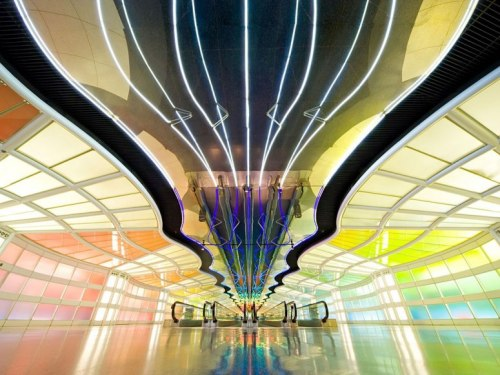condenasttraveler:  Airports That Make a Design Statement | O'Hare United Terminal, Chicago