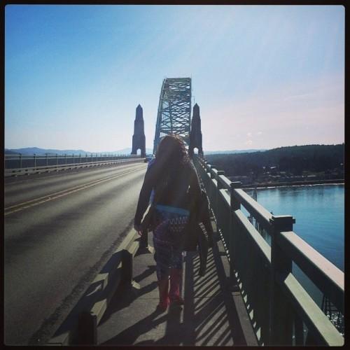 Walking over the bridge #NewportOregon #SeafoodandwlWine
