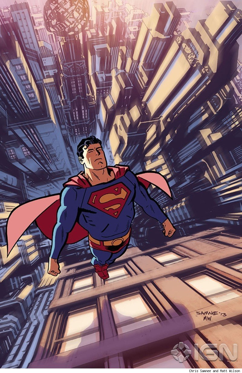 comicsalliance:  New Digital-First Superman Series to Feature Timm, Hitch, Samnee, Sprouse and More with Out-of-Continuity AdventuresBy Andy Khouri Great news from DC Comics: the publisher has announced Adventures of Superman, a new digital-first series that's the sort of thing we've been eager to see for years. Launching in April, the title will give a number of writers and artists a place to tell stories of Jerry Siegel and Joe Shuster's Man of Steel unrestrained by the continuity and aesthetics of the main New 52 line. Among those contributing are ComicsAlliance favorites Jeff Parker (Bucko, Red She-Hulk) and Chris Samnee (Daredevil, The Rocketeer: Cargo of Doom), who will collaborate on a story about Superman's first encounter with Lex Luthor. But before that, Adventures of Superman begins with a two-part story written by popular novelist Orson Scott Card (Ender's Game) and drawn by the great Chris Sprouse and Karl Story. Most auspiciously, Adventures of Superman will see some new comics work by the legendary animator and cartoonist Bruce Timm, whose last solo Superman story was, as best as I can determine, all the way back in the 1990s when he was working on Superman: The Animated Series and drawing covers for its comic book tie-in, Superman Adventures.  Read more.  oh man, Chris Samnee's Superman looks GLORIOUS.  (The rest of the line up on this new series doesn't look half bad either.  Bruce Timm??!!)