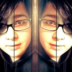 #bored #mirror #glasses #piercings #photoeffects