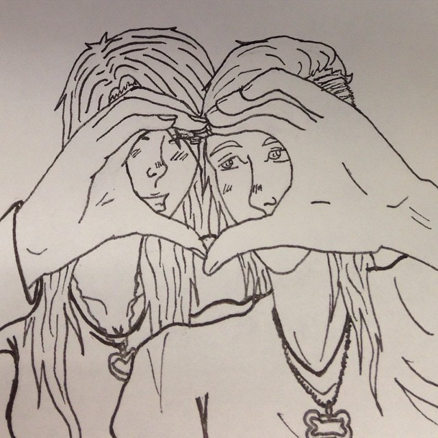 cute relationship goals drawings of people